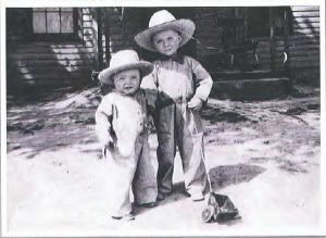 January 2020 Mystery Photo - Photo of two boys in Cowboy costumes