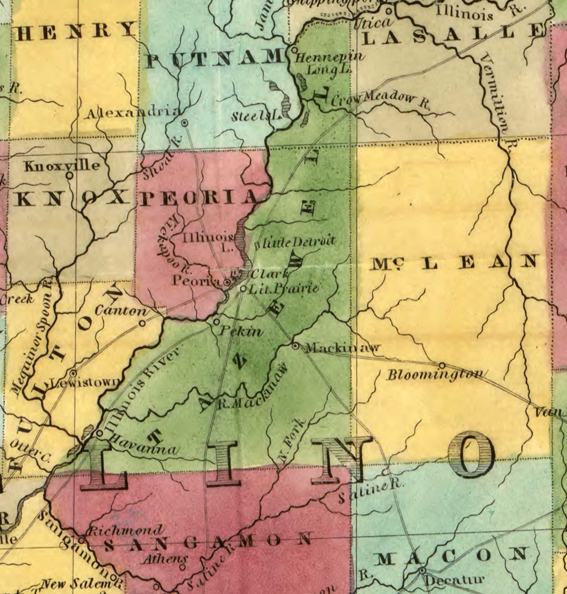 1836 County Map