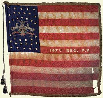 Battle Flag of the 147th Pennsylvania Infantry