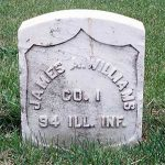 Tombstone of James A. Williams, 94 Ill Inf.
