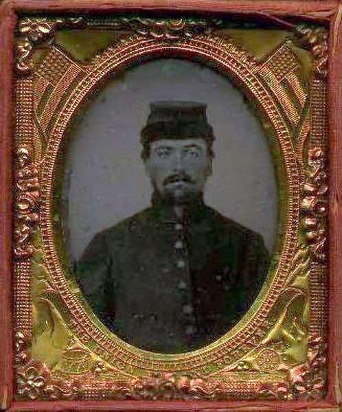 Photo of James Anson Williams circa 1862
