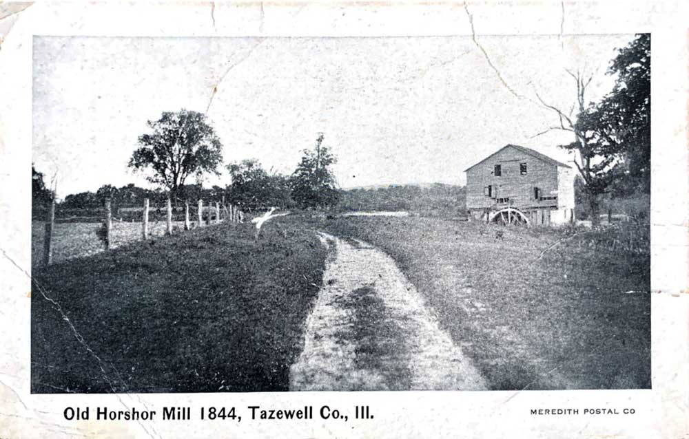 1844 photo of Old Horshor Mill