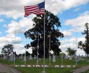 Entrance to Prairie Rest Cemetery, Delavan, IL