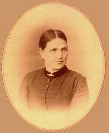 Photo of Maria Schrock circa 1892