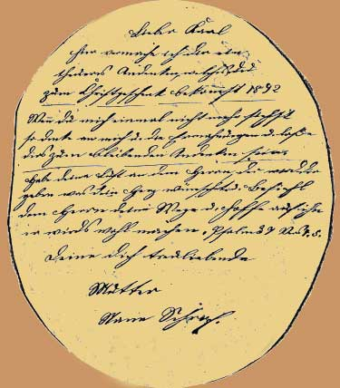 Note on the back of Maria Schrock photo